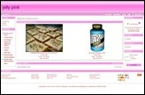 Screenshot eines Demoshops mit dem Standardtemplate jelly_pink